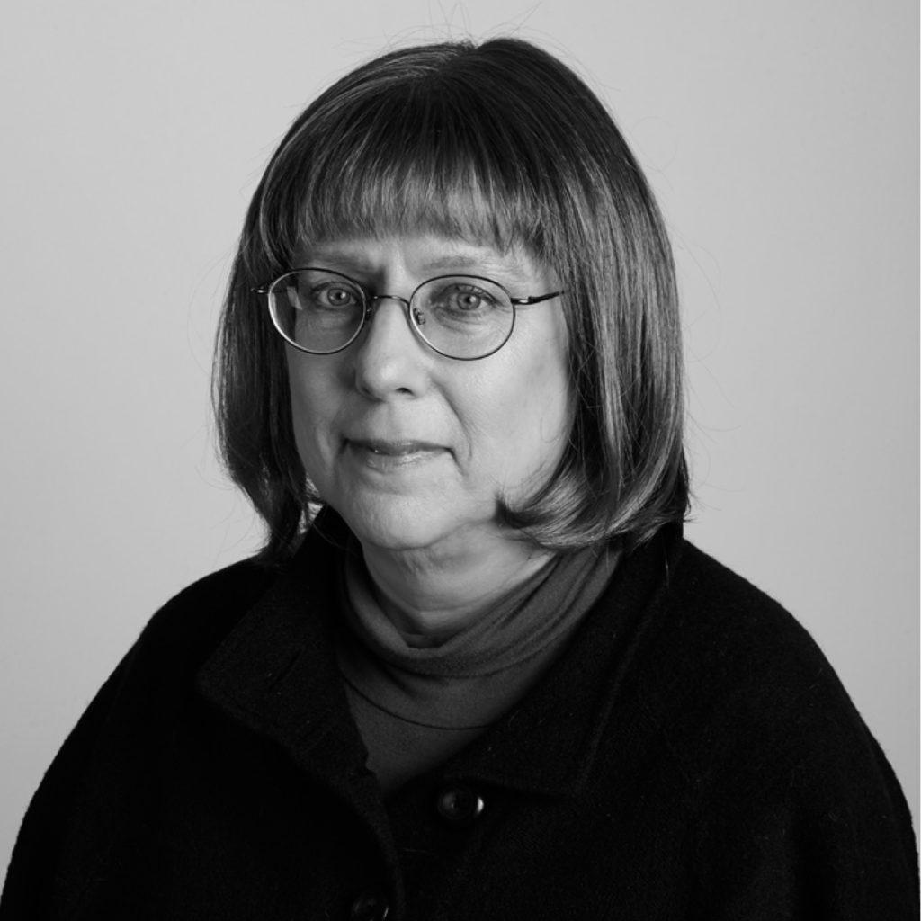Black and white photo of Ellen