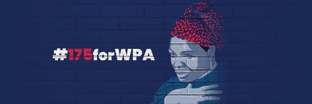 #175forWPA Blue Banner